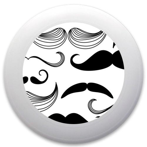 Black and White Mustaches Innova Pulsar Custom Ultimate Disc