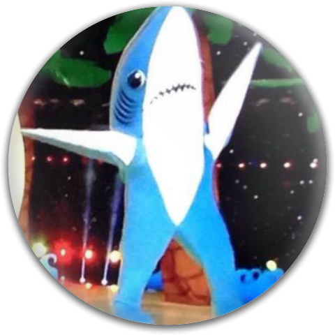 Left Shark Dynamic Discs Fuzion Judge Putter Disc