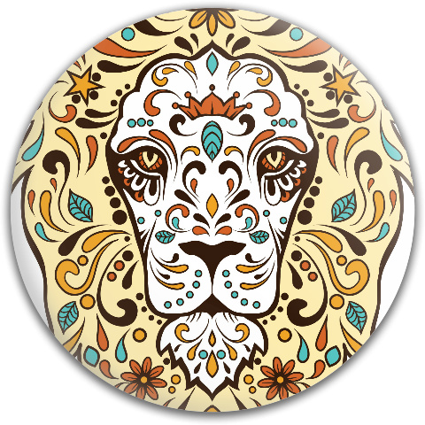 Folkart Lion Dynamic Discs Fuzion Judge Putter Disc