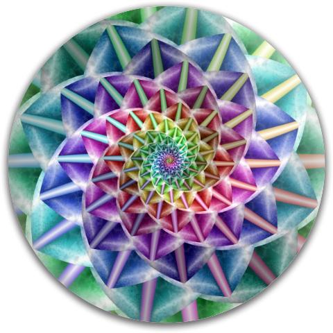 Spiral Fractal Dynamic Discs Fuzion Judge Putter Disc